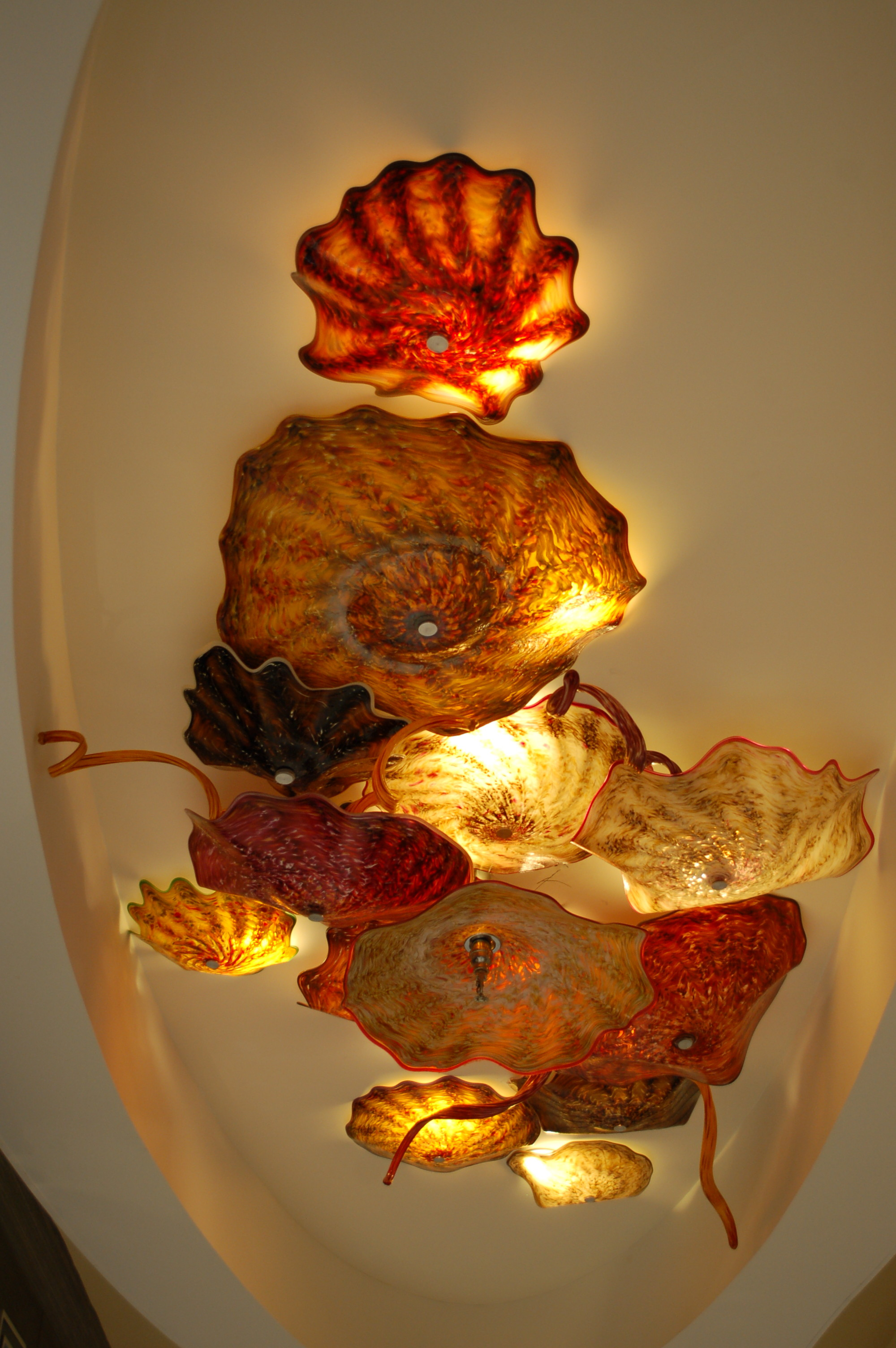 The Lighting Fixtures Were All Glass, These Reminded Me Of Jellyfish.