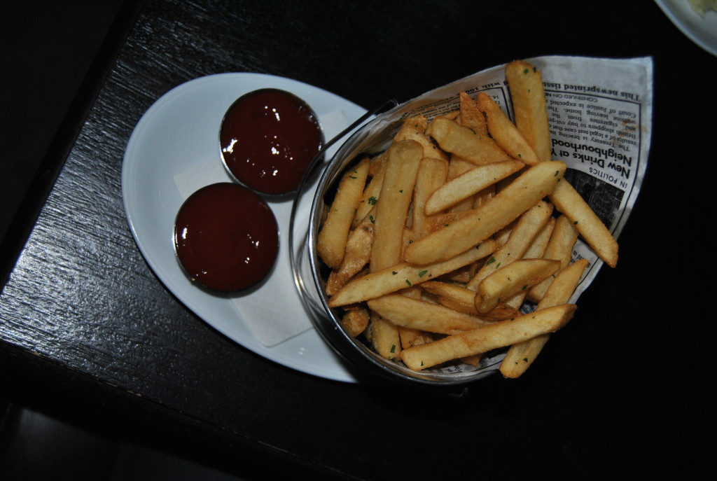 Pommes frites (french fries) were amazing - and I'm quite a fry junkie. I may or may not have eaten half the container.