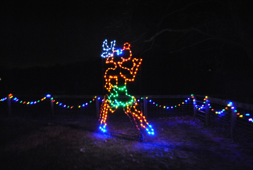 Rudolph has fancy feet and moving legs.