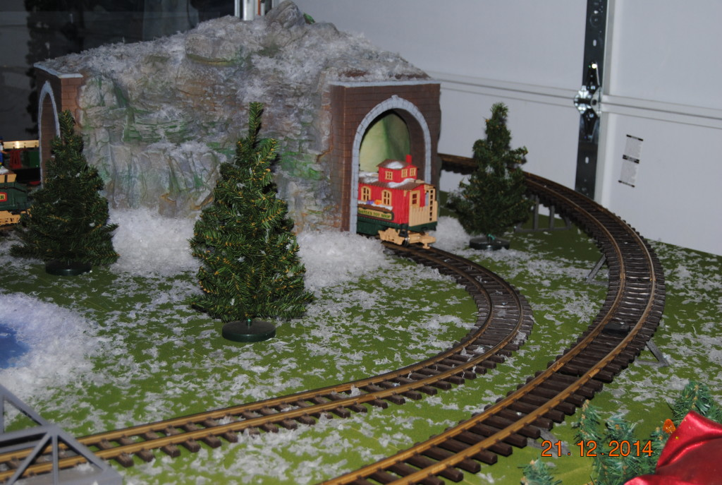 A train set was a whimsical touch.