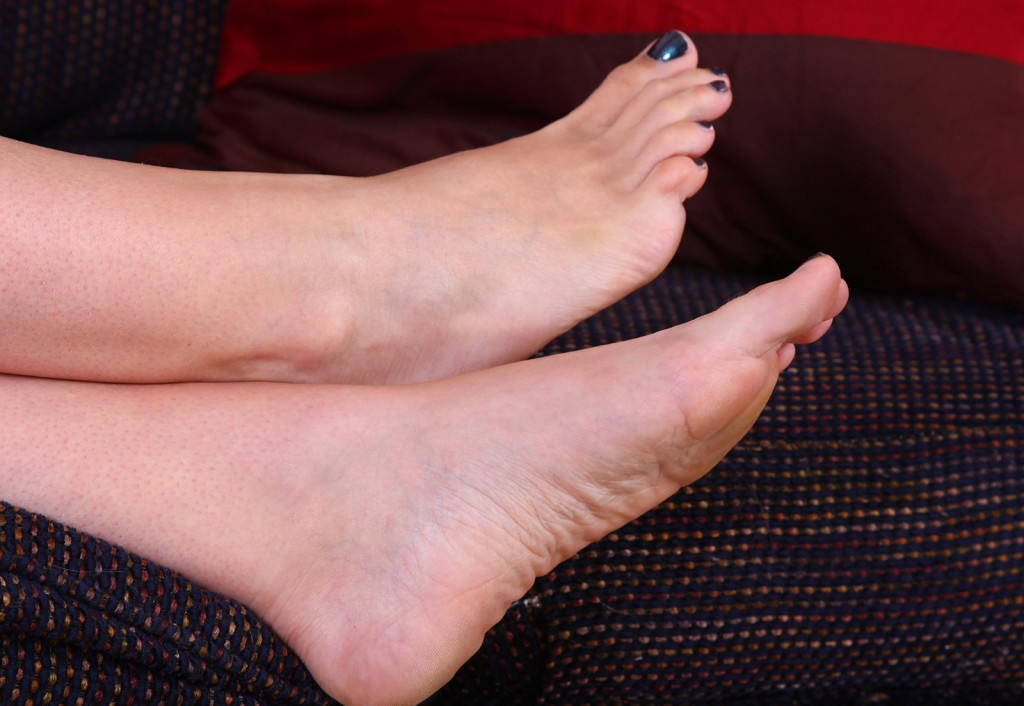 My monkey toes in blue polish! Photo by Dim Dom Photography
